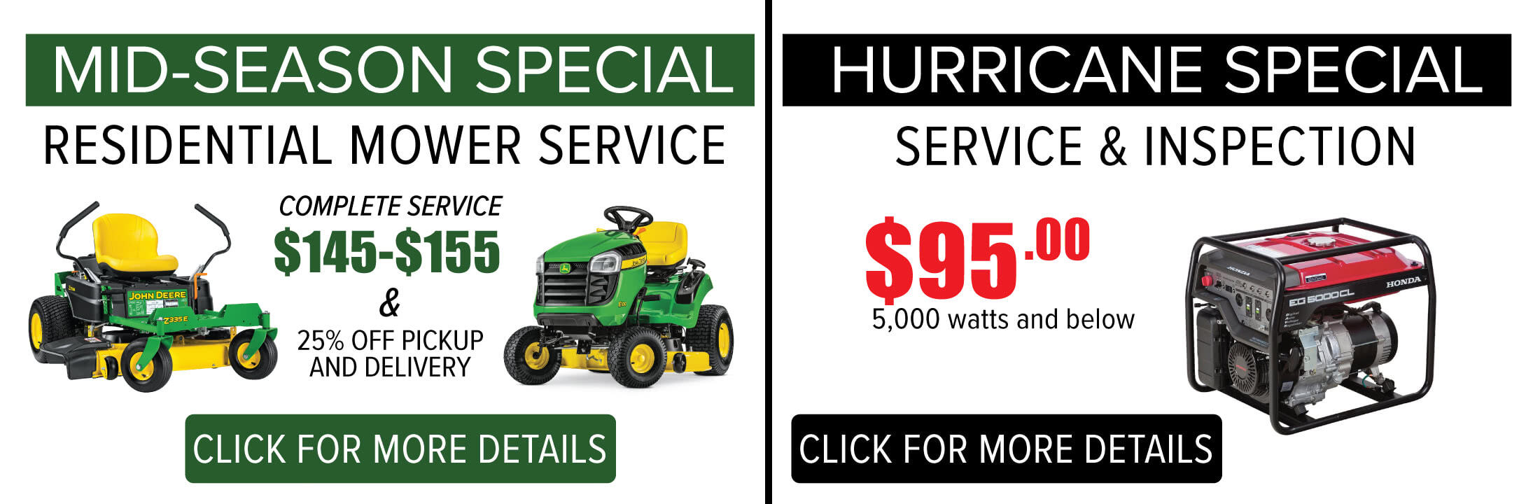August Service Specials