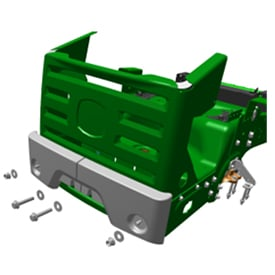 Illustration of ZTrak© mower rear bumper