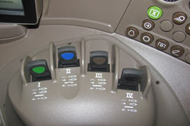 E-SCV controls on the right-hand console