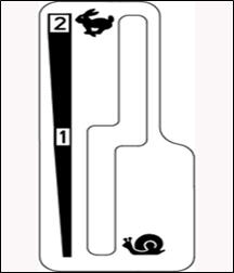 Lever slot between speed brands