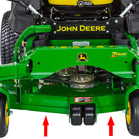 Mower leading-edge reinforcement