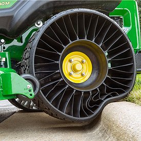 Flat-free rear tire shown on ZTrak Mower