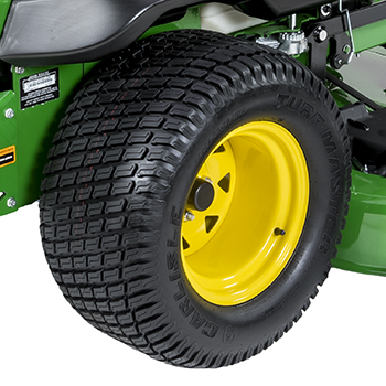 24-in. (61-cm) diameter rear tire (Z740R)