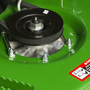 Deep mower deck spindle pocket