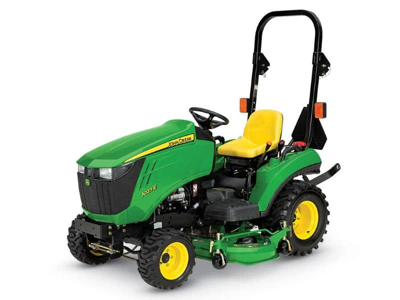 John Deere 1023E with Loader, Mower, & Box Blade