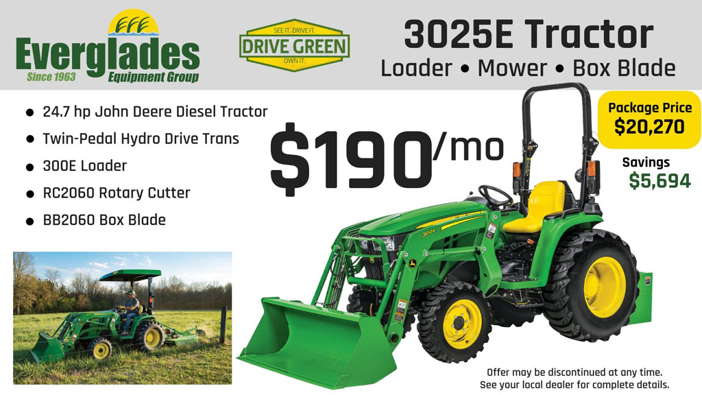 Everglades Equipment Group 3025E Tractor Package Product Photo
