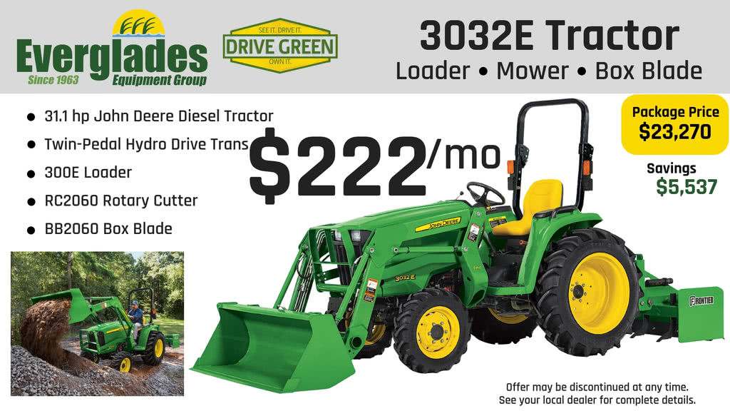 Everglades Equipment Group 3032E Tractor Package Product Photo