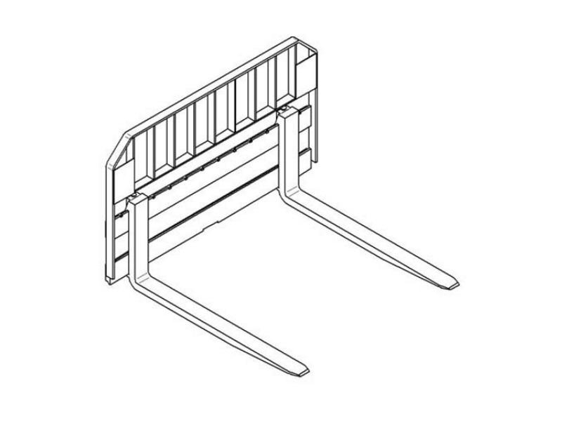 Paladin Attachments Pallet Rail Style Forks Product Photo